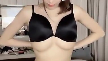 Sexy chinese girl big boobs bra