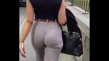 Tight Office Trousers - Jiggling Ass