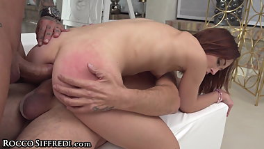 RoccoSiffredi Double Anal, Double Vag & Big Dicks for Mina