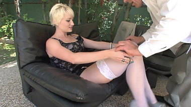 Russian oligarch fucking blonde maid