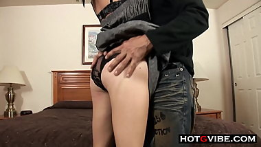 Tiny Teen Getting Her Pussy Pounded In