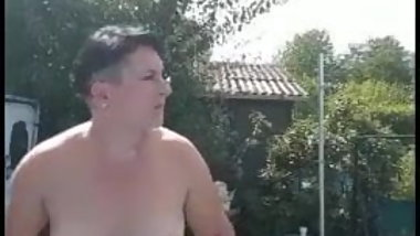 mature home nudist shows her pierced hairy cunt