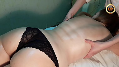 Polish model with very delicious booty gets relax massage