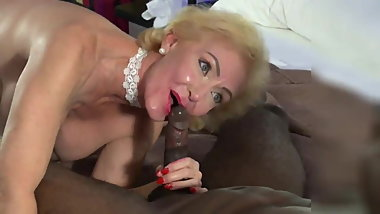 Granny Loves Playing with Young Black Boys Cock.