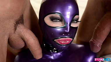 Latex doll threesome
