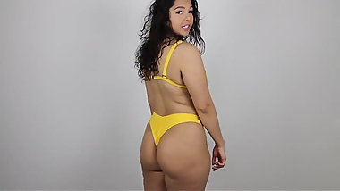 Big Booty Youtuber Trying on Thong Bikinis (PAWG)
