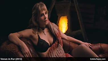 celeb actress emmanuelle seigner nude & lingerie in movie