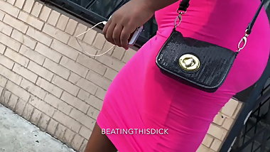 BBW MONSTER IN PINK DRESS