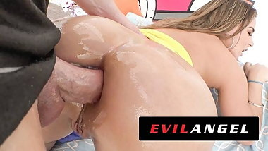 EVILANGEL Natasha Nice's Beautiful Tits & Pulsating Ass