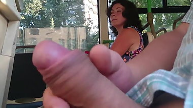 Flashing dick in the bus