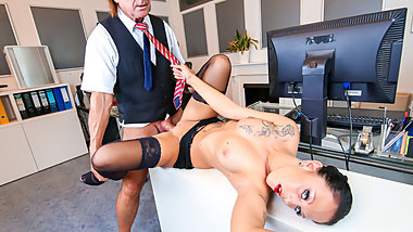 LETSDOEIT - Kinky German Secretary Banged Hard By Her Boss