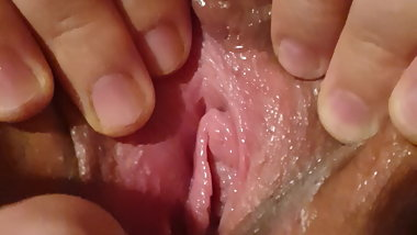 Fuck buddies close up spread pussy