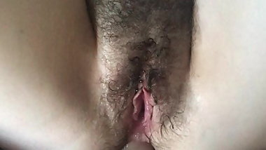 Hairy Cunt gets dick poked into butthole