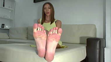 Hot Russian Girl Sexy Huge Soles & Long Toes ( Size 10 US)