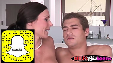 MILF shows stepson and his girlfriend how to have some fun
