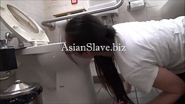 BDSM: Public Toilet Licking and Pee Drinking