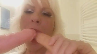 Hungarian milf suck two dildos. Edit Deak