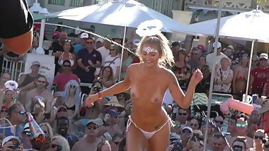 Naked Pussy Flashing Contest Pool Party INSANE