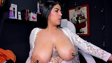 I have really huge boobs with nipple clamps