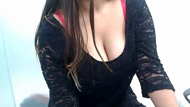 Black dresses indian wife show body