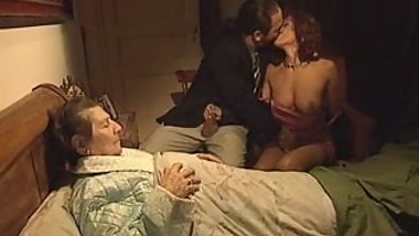 Simona Valli has sex in front of her old mother
