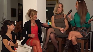 Marbella ladys in pantyhose, stockings and heels