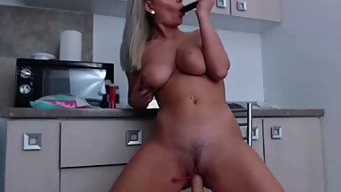 Very hot babe with big tits fuck and mastrubate with dildo