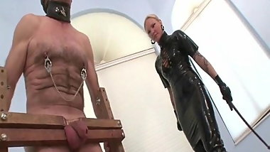 Blonde Mistress - Sounding,Balls And Cock Torture