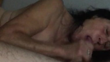 66 years old granny enjoys blowjob