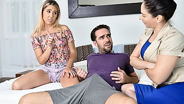 FamilyStrokes - Tiny Stepsis Lets Her Big Bro Pound Her