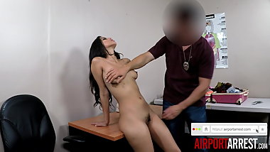 Hot Latina Fucked by Airport Guard