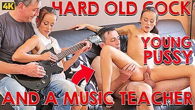 OLD4K. Dad puts guitar aside and takes care of Tina Walker