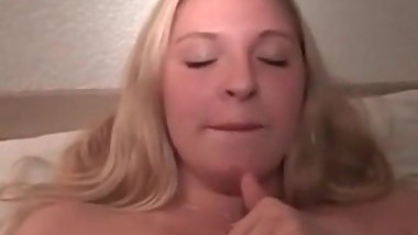 Cuckolds plumpy blonde wife with 3 BBCs