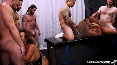 double creampie gangbang multiple creampies huge tits